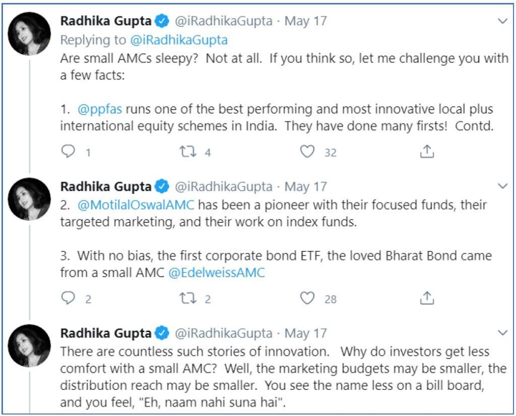 radhika gupta tweet